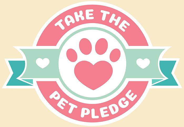 Take the Pet Pledge emblem